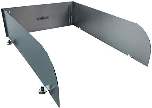 Grillfürst magnetischer Windschutz - Spritzschutz aus Edelstahl für Seitenbrenner, Infrarotbrenner oder Seitenkocher