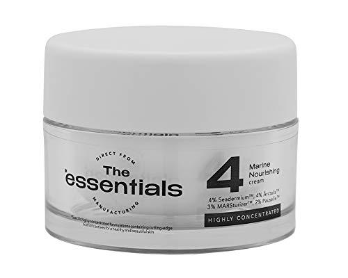 Marine Nourishing Cream   Facial Moisturizer   Crema Facial   Crema Hidratante y Nutritiva Textura muy ligera   The Essentials Cosmetics: Mayor nivel de activos del mercado