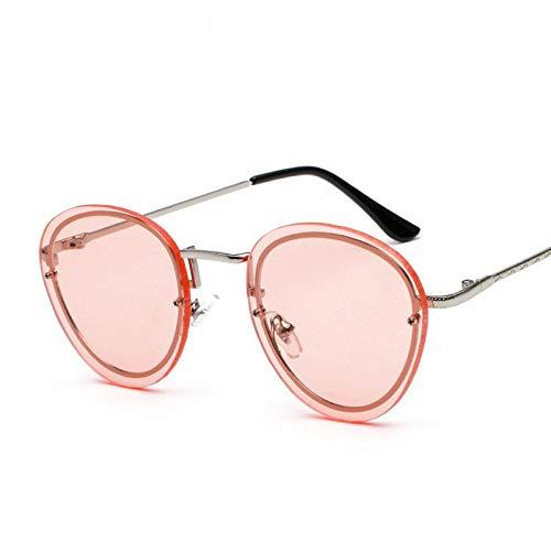 Glqwe Klassische Sonnenbrille, Frameless Sonnenbrille Stave Spiegel Ozean Sonnenbrillen (Color : C)