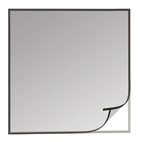 Windhager Insektenschutz Fliegengitter Open-Up, Moskitonetz für Fenster inkl. Flausch-und Klettband, Anthrazit, 03539, 130 x 150 cm