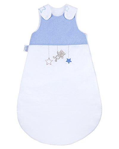 Schlafsack mit Applikation, Gr. 70, Sternchen blau