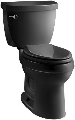 KOHLER K-3609-7 Cimarron Comfort Height Elongated 1.28 gpf Toilet with...