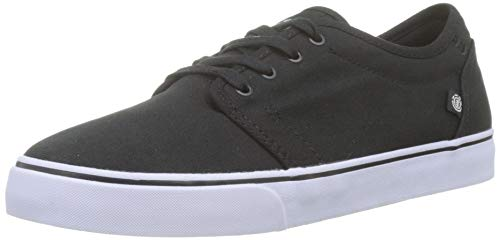 Element Men's Skateboarding Shoes, White Black White 6320, 6.5-7
