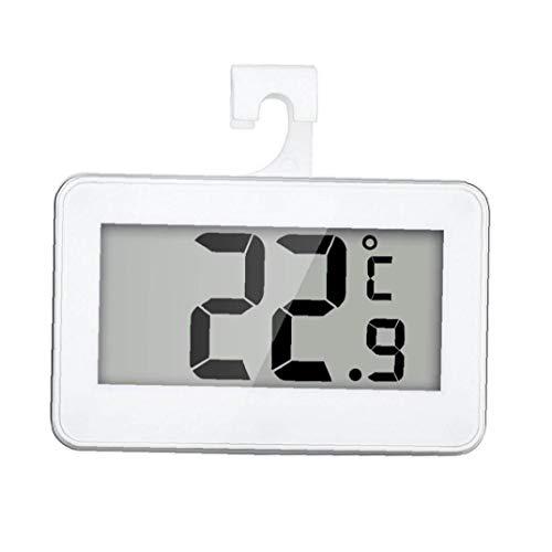 LAANCOO Termómetro del refrigerador Digital Resistente al Agua de Temperatura inalámbrico Refrigerador Congelador a Partir -20 a 60 Grados Grande del LCD Display