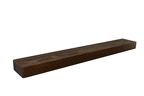"Joel's Antiques & Reclaimed Decor 42"" W X 7"" D X 3"" H, Rustic, Floating Wood Mantel Shelf, Wooden, Shelves, Industrial, Farmhouse"
