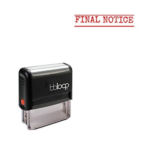 'Final Notice' Self-Inking Office Stamp, Rectangular Typewriter Style