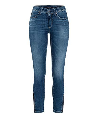 Cambio Damen Jeans Parla Zip Größe 3827 Blau (blau)