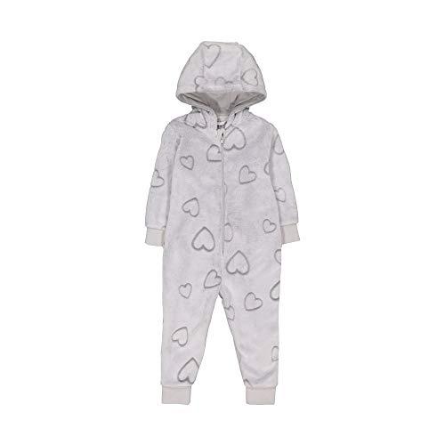 Mothercare Girls Long Sleeve Heart Fluffy Onesie Ensemble de Pyjama, Beige (Cream), 2-3 Ans Bébé Fille