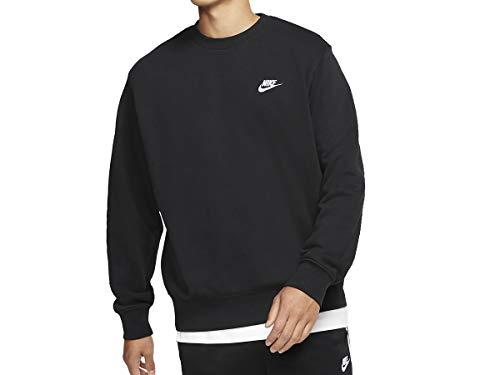 Nike Men's Sweatshirt (BV2667-010_Black/White_Large)