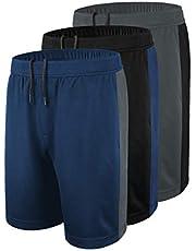 DISHANG Pantaloncini da Basket Performance da Uomo Attivi Pantaloncini da Ginnastica Leggeri da Allenamento con Tasche Laterali Design a Rete