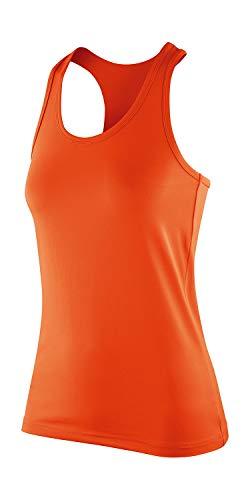 Result Damen Sporttop Spiro Womens Impact Top, Orange (Tangerine), 40 (Herstellergröße:M)