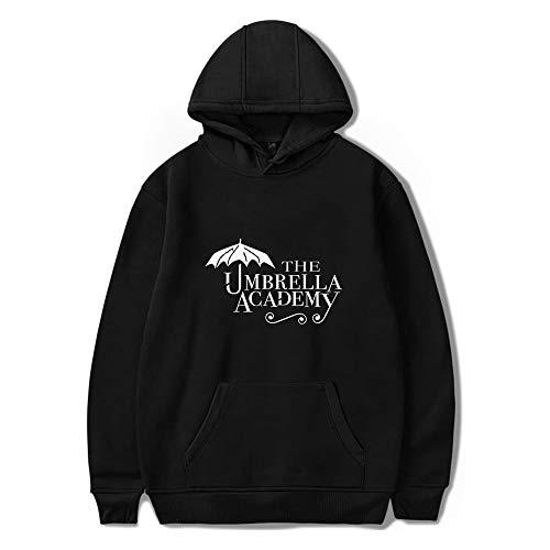 Hot TV series The Umbrella Academy Season 2 print Women/Men Hooded 2020 Harajuku Casual Hoodies Sweatshirt (Black,XL)