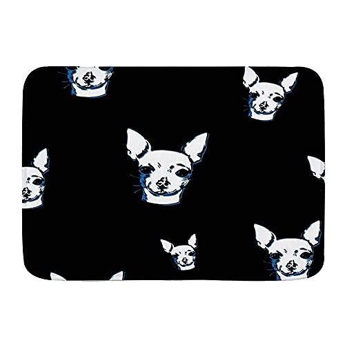 Alfombras de baño para baño, Chihuahua perro animal animal animal fauna salvaje, antideslizante acuarela piso felpudo alfombra suave alfombra de felpa decoración del hogar