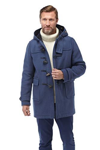 Original Montgomery Soho Elegance Dufflecoat Herren mit Büffelhorn Knebeln| Größe XL| Royal Blau | Bekleidung > Mäntel > Dufflecoats | Original Montgomery