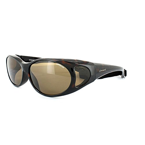 Polaroid Suncovers Fitover Sunglasses P8900 086 IG Dark Havana Brown Polarized