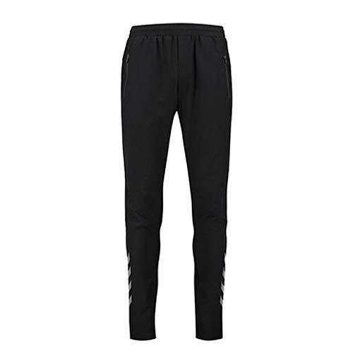 Hummel Mesh joggingbroek heren lang - training OTTO PANTS - fitnessbroek zwart - sportbroek sweat - hardloopbroek YKK ritssluiting - voetbalbroek polyester