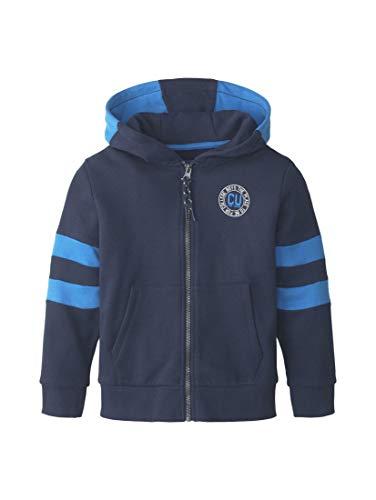 TOM TAILOR Kids Jungen Sweatjacket Placed Print Sweatshirt, Blau (Dress Blue 3043), (Herstellergröße: 104/110)