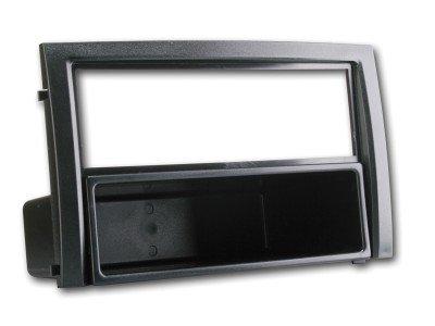 Radioblende für Skoda Fabia 2003-06 VW Polo 9N 2-DIN mit Fach schwarz Autoradio Blende Einbaurahmen