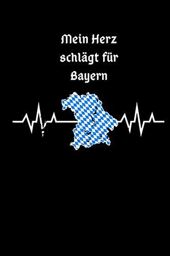 Mein Herz Schlägt Für Bayern: Kariertes Notizbuch A5 Für Bayrische Lehrer Boarische Tradition Für Büro Bayern Bayrisches Geschenk
