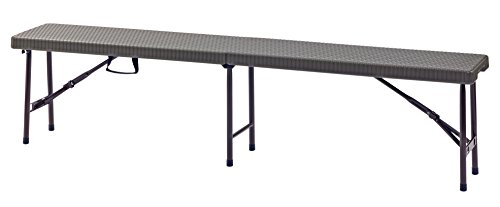 "Sandusky Lee FPB6FT-BR Folding Portable Plastic Indoor/Outdoor Picnic Bench, 6"", 17"" Height, 72"""