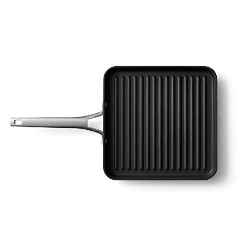 Calphalon Premier Hard-Anodized Nonstick 11-Inch Square Grill Pan, Black