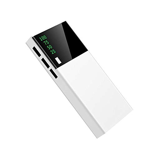PINZHENG Power Bank 10000mAh Large Capacity USB Battery Pack for iPhone iPad Samsung Xiaomi Powerbank Smart Display Portable Charger Power Bank Three Devices Charge at The Same Time