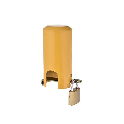 Hifuture Dapbeschermer, beveiligd tegen diefstal, hoogwaardig metalen ijzer, multifunctioneel slot, voor buiten, tuin…