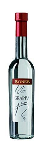 Roner Grappa Bianca (1x 0,5l) - Grappa tradizionale Distilleria Artigianale Alto Adige Südtirol piu premiata d'Italia - 500 ml