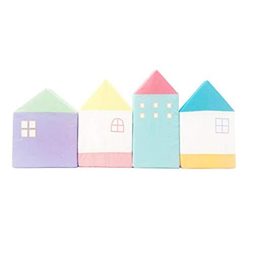 Bospyaf Parachoques De Cuna, Estera De Protección De Pared, Anticolisión De Seguridad, Cerca De Cuna De Casa Pequeña De Color Macaron