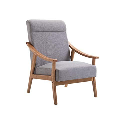 HFVDA Stoff Lounge Stuhl Recliner Stuhl Wohnzimmer Stuhl Lounge mit bequemen armlehnen einzeln Stuhl speisezimmer stühle Sofa Stuhl Seite Stuhl (Color : Gray)