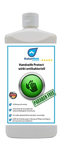 Kaiserrein Handseife Protect 1 L wirkt antibakteriell Hygienische hautschonende Handseife I Flüssigseife Nachfüllbeutel I Seife flüssig nachfüllpack I hautfreundlich rückfettend