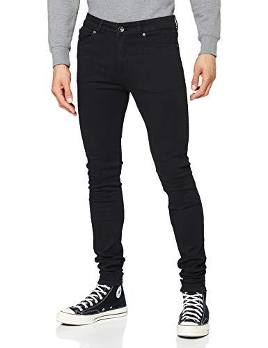 Enzo Herren EZ326 Jeans, Schwarz, 34W/32L