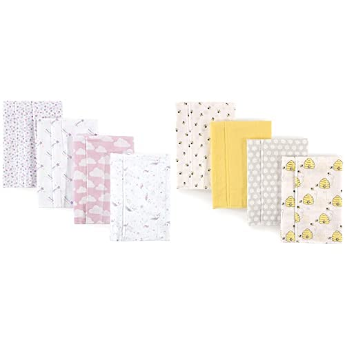 Hudson Super beauty product Sale special price restock quality top Baby Girl Cotton Flannel Magical 8-Pack Unico Cloth Burp
