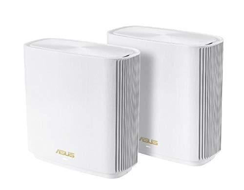 ASUS Wifi-6対応トライバンドメッシュルーター(2個パック) ZenWiFi AX (XT8) ZENWIFI/XT8/2-PACK/WHITE
