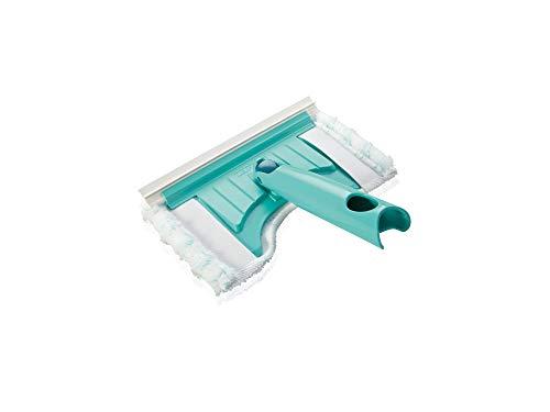 Leifheit Badwischer Bath Cleaner mit 360°-Drehgelenk, Fliesenwischer mit Mikrofaser Bezug und Click-System, Badreiniger für Fliesen und Fugen mit Abziehlippe und runder Aussparung für Amaturen