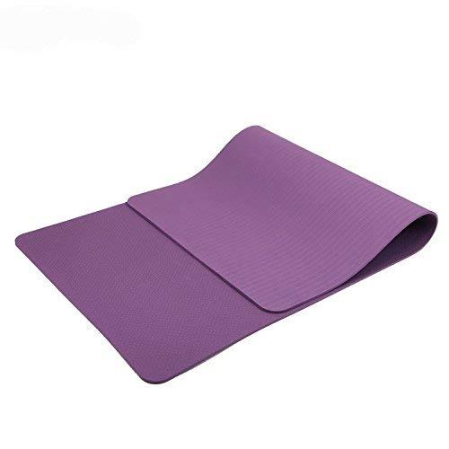 MAXYOGA MaxDirect Colchoneta para Yoga, Pilates, Gimnasia de Material Ecológico TPE. Esterilla Yoga Mat Antideslizante de Grosor de 6mm, tamaño 183cm x 61cm. Morado Solo