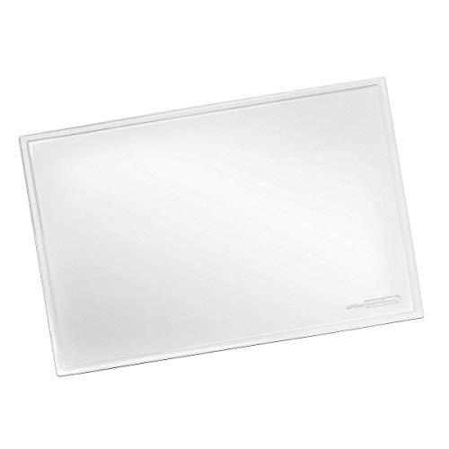 Schreibunterlage transparent OFFICE POINT | transparente Schreibtischunterlage mit glatter Oberfläche für Büro und Arbeitsplatz | abwischbar | rutschfest | glasklar | 60 x 40 cm