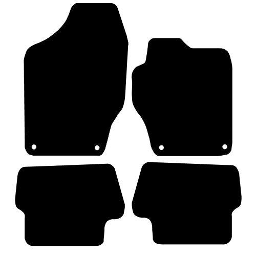 Carsio Carp-Cut-1223-(36 x 4) Tapis de Voiture sur Mesure pour 308 2007 à 2013-4 pièces avec 4 Clips Noir