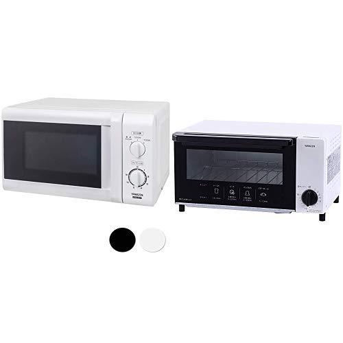 【セット買い】 [山善] 電子レンジ 17L ターンテーブル 【西日本 60Hz専用】 ホワイト MRB-207(W)6 & オーブントースター ホワイト YTN-S100(W)