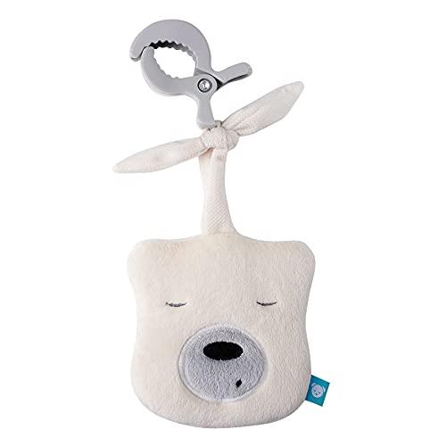 """myHummy Baby Einschlafhilfe Geräusche Bär """"mini"""" ecru mit Klammer   Herzschlag und weißes Rauschen zur Beruhigung   Automatische Abschaltung   Sleep Aid White Noise Sound Bear for Babys"""
