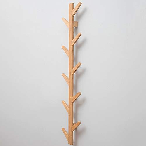 Perchero de Diseño de Rama de Árbol de Madera de Bambú Natural Montado en La Pared, Perchero de Entrada, Úselo Como Organizador de Sombreros, Llavero, Estante de Pared Decorativo para Pasillo de Bañ