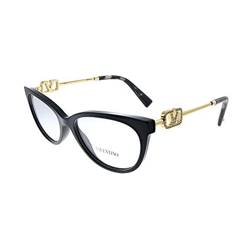 Valentino VA 3051 5001 - Gafas de ojo de gato (plástico, 52 mm), color negro