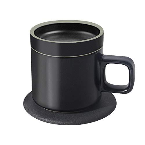 movement 100-240V Heizbecher Pad Warmes Pad Für Kaffee Milch Warmwasserbereiter Untersetzer Desktop-Heizwerkzeug Drahtloses Ladethermostat Blackcup