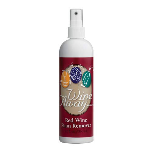 Wine Away Red Wine Stain Remover Spray - Natural Carpet and Upholstery Spot Cleaner - Effectively Removes Blood, Clothes, Coffee, & Pet Stains - Best on Both Fresh & Dried Stains - Citrus Scent 12 Oz