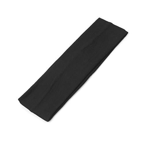 JUSTFOX - Sporthaarband Stirnband Haargummi Haarband für Sport Yoga Fitness Schweißband Schwarz