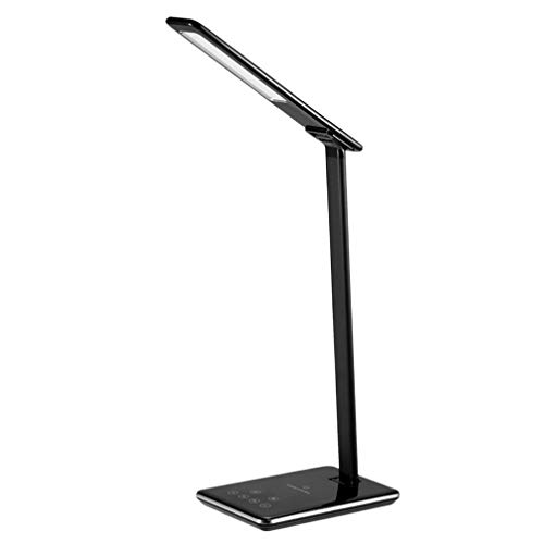 Eye Care LED Light Student Desk Lamp QI draadloze oplader voor smartphones Zwart