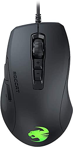 Roccat Kone Pure Ultra-Light Ergonomic Gaming Maus (Optischer Sensor 16000 dpi, RGB-Beleuchtung, 66G, Ultra leicht) schwarz