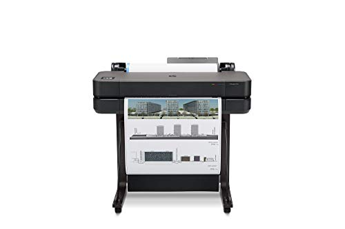 "HP DesignJet T630 Large Format Wireless Plotter Printer - 24"", with Modern Office Design (5HB09A)"