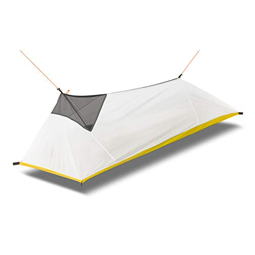 1人用 インナーテント 蚊帳 モスキートネット 超軽量 携帯式 蚊除け 登山用 通気性 設営簡単 キャリーバッグ ペグ付き アウトドア用品