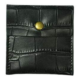 LIly 携帯灰皿 ポータブル レザー 革 ポケット サイズ カラー 6色 (ブラック)